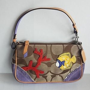 Small Coach Embellished Fish Hand Bag/Purse Mini